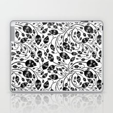 b&w flora pattern Laptop & iPad Skin