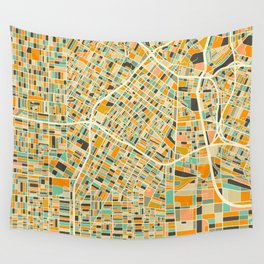 Los Angeles Map Wall Tapestry