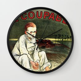 Le Coupable, The Guilty One Wall Clock