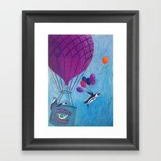 Airborne Penguins Framed Art Print