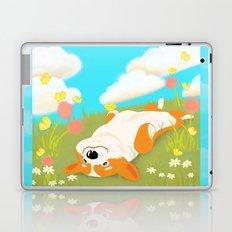 A Happy Corgi In The Sun Laptop & iPad Skin