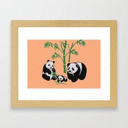 panda family Framed Art Print