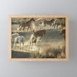 Hijinks at the Waterhole Framed Mini Art Print