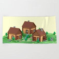 voxel hamlet Beach Towel