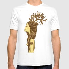 Antlers MEDIUM White Mens Fitted Tee
