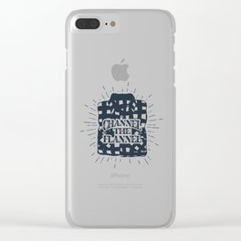 Channel The Flannel Clear iPhone Case