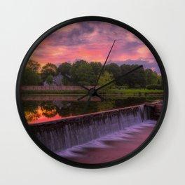 Wehr's Dam All Natural Wall Clock