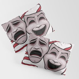 Comedy And Tragedy Theater Masks Pillow Sham