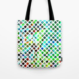 Fluid Dot Tote Bag