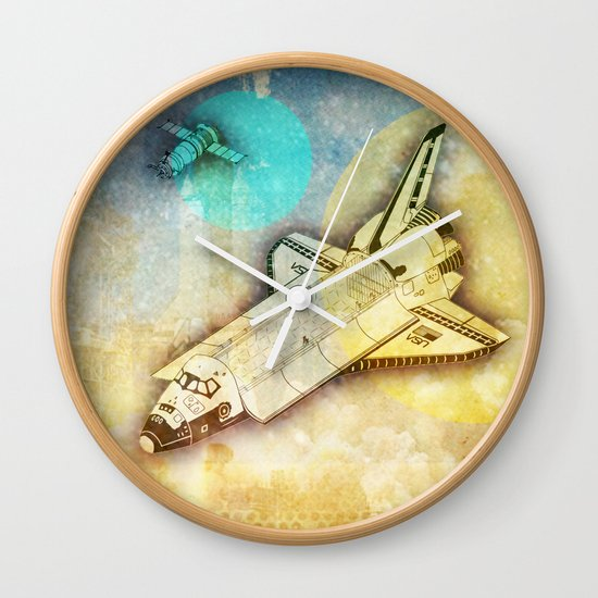Lost in space _ Tribute to space tarvel Wall Clock