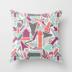 Patterned Arrows Throw Pillow
