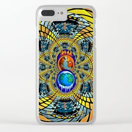 Fire & Ice Clear iPhone Case