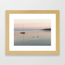 Sunset at Lake Balaton Framed Art Print