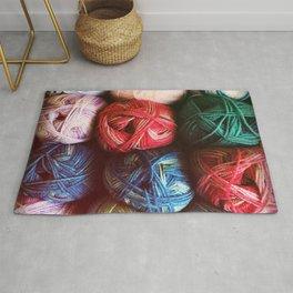 Balls of Yarn Rug