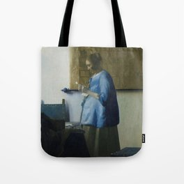 Letter reading woman - Johannes Vermeer (ca. 1663) Tote Bag