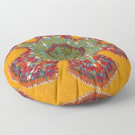 Growing - Casuarina - plant cell embroidery Floor Pillow