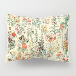 Wildflower Diagram // Fleurs II by Adolphe Millot 19th Century Science Textbook Artwork Pillow Sham
