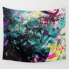 Textured Graffiti Print Wall Tapestry