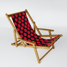 Red Apple Polka Dots Sling Chair