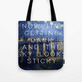 Starry Night Over the Rhone/Suck it and See Tote Bag