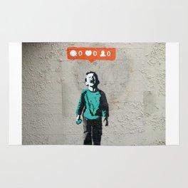 Banksy, social life, likes Rug