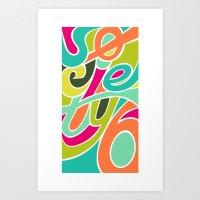 S6 Tee, Vivid you Art Print