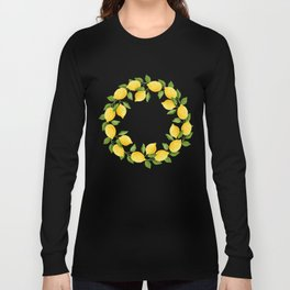 Watercolor Lemons Long Sleeve T-shirt