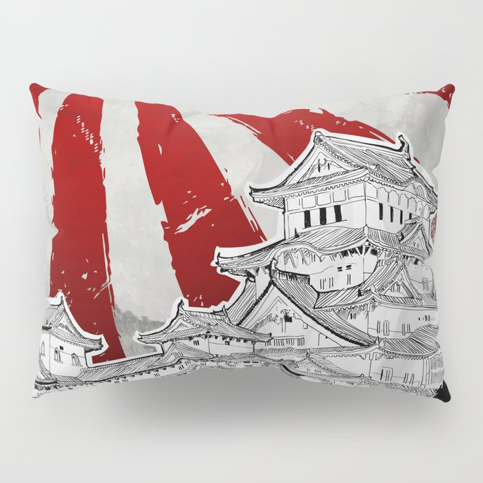 Japanese Palace and Sun Pillow Sham