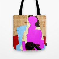 picasso Tote Bags featuring Picasso Woman by Marko Köppe