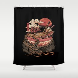 Dragon's Ramen Shower Curtain