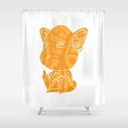 Tiki Kangaroo Shower Curtain