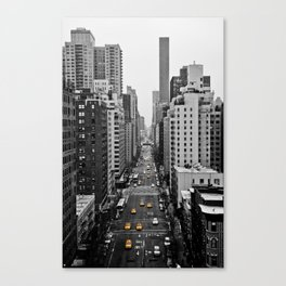Black Cab Canvas Print