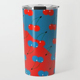 Blue Cherries Travel Mug