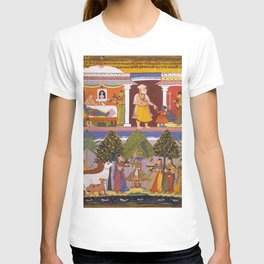 Scenes from the Childhood Krishna, from a Sur Sagar Manuscript T-shirt