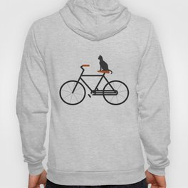 Cat Riding Bike Hoody