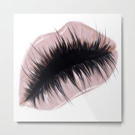 Lashious lips Metal Print