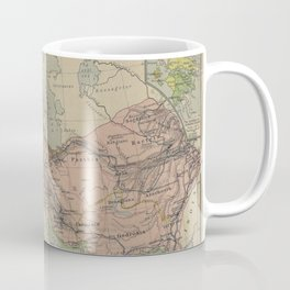 Map of Macedonion Empire Middle East Plan of Tyre from 332 BC Coffee Mug