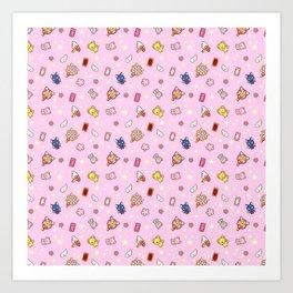 cardcaptor sakura pattern pink Art Print