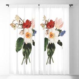 Spring Flowers Bouquet Blackout Curtain