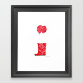 balloon boots Framed Art Print