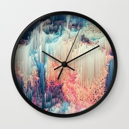 Fairyland - Abstract Glitchy Pixel Art Wall Clock