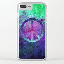 Peace II Clear iPhone Case