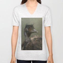 A happy Emu Unisex V-Neck