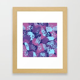 Modern brush blots Framed Art Print