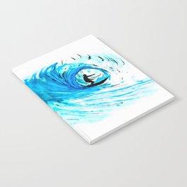 Surfer in blue Notebook