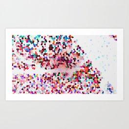 Glitter Beautiful Pink Fantasy Colorful Galaxy Pattern Art Print