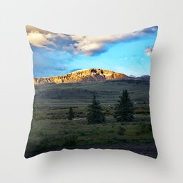 Frosted Bristol Head Peak Throw Pillow