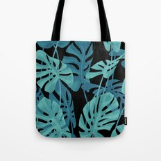 Graphic Monstera leaves. Tote Bag