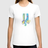 feet T-shirts featuring Feet love by andy_panda_