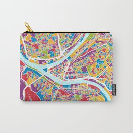 Pittsburgh Pennsylvania Street Map Carry-All Pouch